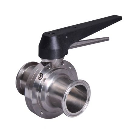 Hygienic Clamp Ended Butterfly Valve