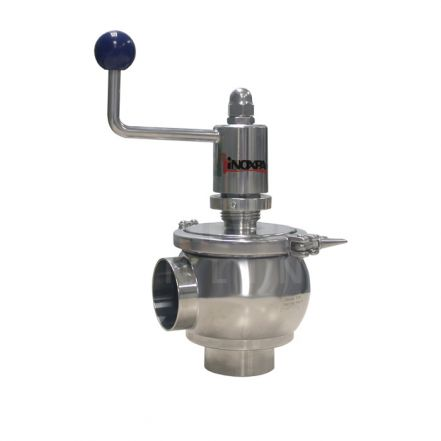 Inoxpa 'NLM' Weld End OD Single Seat Valve with Manual Operator