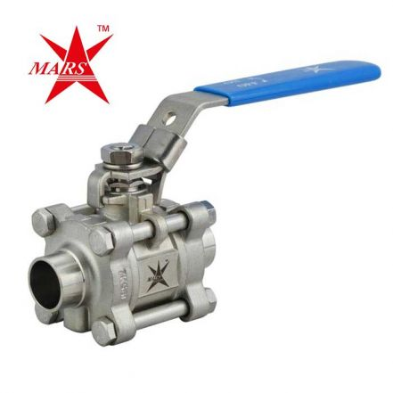 Mars Ball Valve Series 50SN 3 Piece Hygienic Manual Only OD Weld End