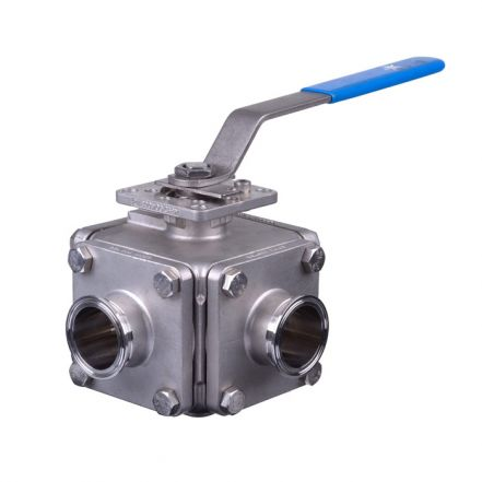 Mars Ball Valve Series 36SN 3 Way Hygienic Direct Mount OD Weld End
