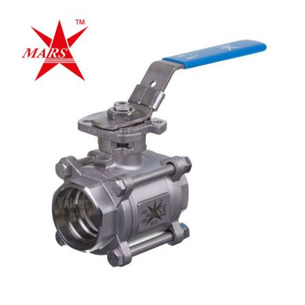 Mars Ball Valve Series 77 3 Piece Stainless Steel Ball Valve