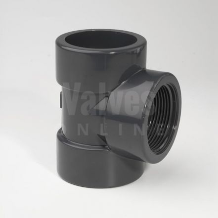 PVC 90° Metric x Threaded Tee