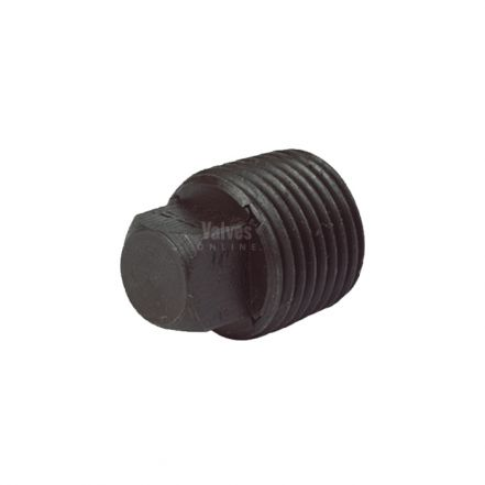 Black Malleable Iron Male Plain Blanking Plug