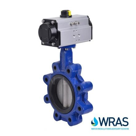Pneumatic Actuated WRAS Lugged PN16 Butterfly Valve
