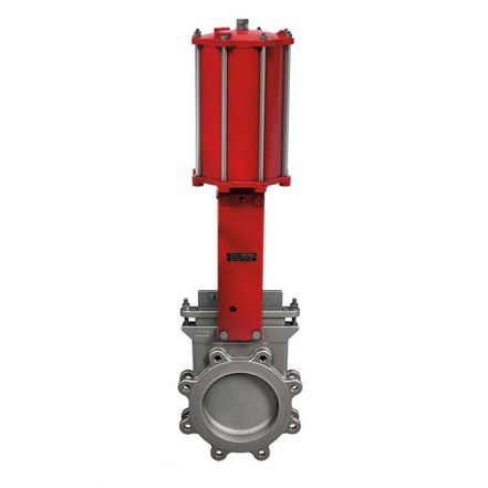 Pneumatic Operated Bray/VAAS Ductile Iron Lugged PN10 Bi-Directional Knife Gate Valve