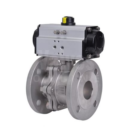 Pneumatically Actuated Stainless Steel PN16 Ball Valve