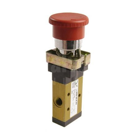 Series 228 Palm Push Button Ø22 Pneumatic Valve 3/2 & 5/2 - 1/8""