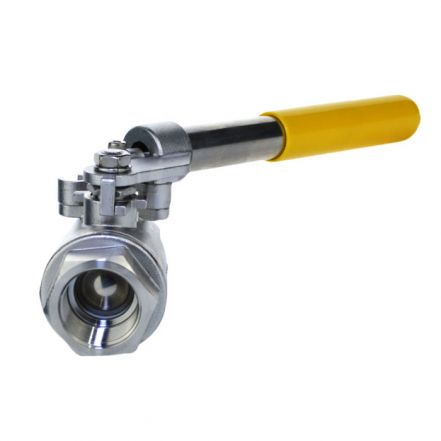 2 Piece Stainless Steel Ball Valve - Spring Lever