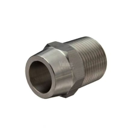 Stainless Steel Male Weld Hex Nipple