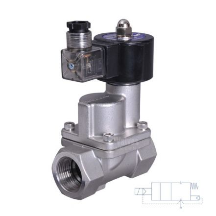 "Stainless Steel Solenoid Valve 0.2-10 Bar Rated Steam Servo Assisted 1/2"" - 2"""