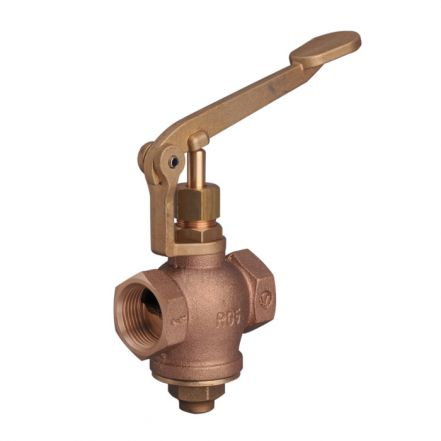 Bronze Globe Valve Self Closing Lever Screwed BSPP