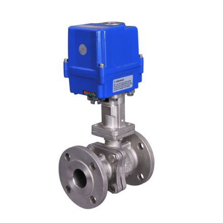 Electric Actuated High Temperature Flanged Ball Valve