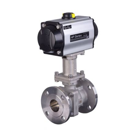 Pneumatic Actuated High Temperature Flanged Ball Valve