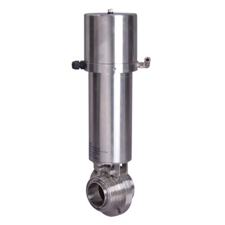 Pneumatic Actuated Spring Return Hygienic Butterfly Valve