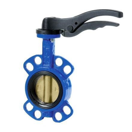 Ductile Iron Wafer Pattern Butterfly Valve Ali Bronze Disc