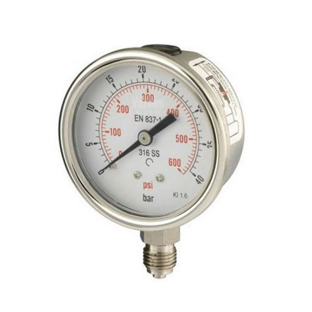 All Stainless Steel Bottom Entry Process Pressure Gauge