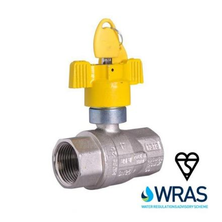 Brass Ball Valve Locking Butterfly Handle