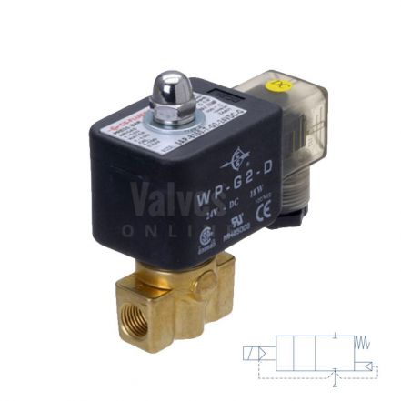 "Brass Solenoid Valve 1-100 Bar Rated High Pressure 1/8"" - 3/8"""