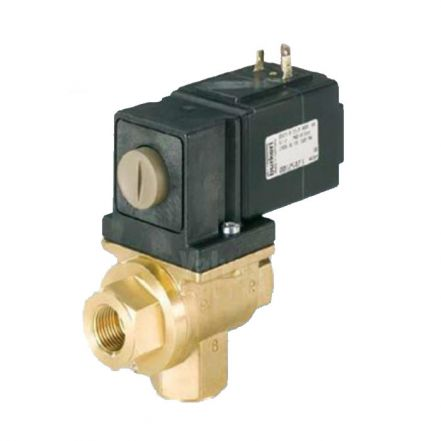Burkert Type 0131 Brass Solenoid Valve 3 Way