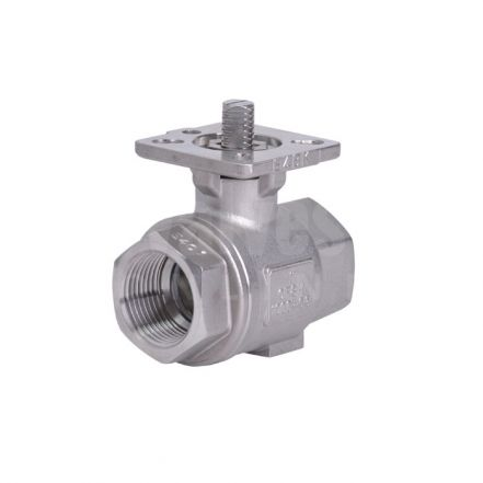 2 Piece Direct Mount Stainless Steel Ball Valve