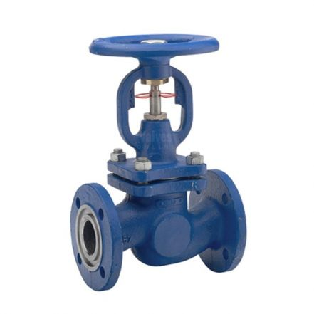 Cast Steel Globe Valve Bellows Sealed Flanged PN25 / PN40
