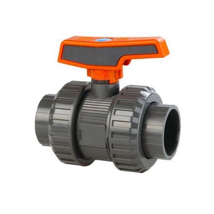 Cepex Industrial PVC Double Union Ball Valve