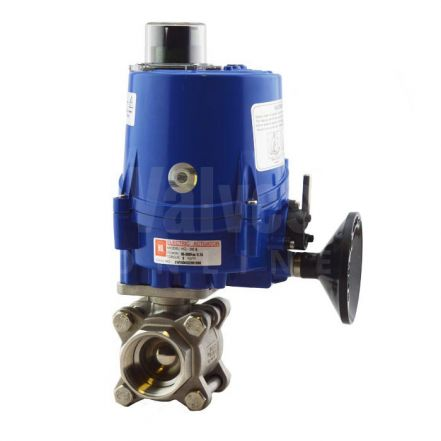 Electric Actuated Series 77 3 Piece Stainless Steel Ball Valve