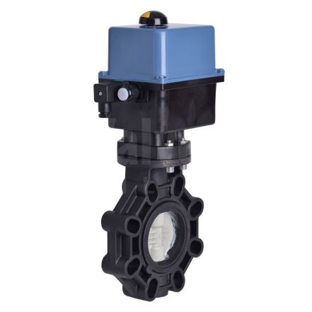 Electric Actuated CEPEX Extreme Butterfly Valve, PP-H Disc
