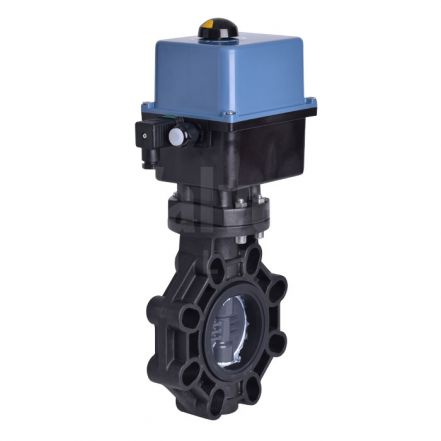 Electric Actuated Extreme Butterfly Valve, PVC-U Disc