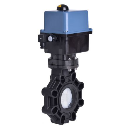 Electric Actuated CEPEX Extreme Butterfly Valve, PVDF Disc