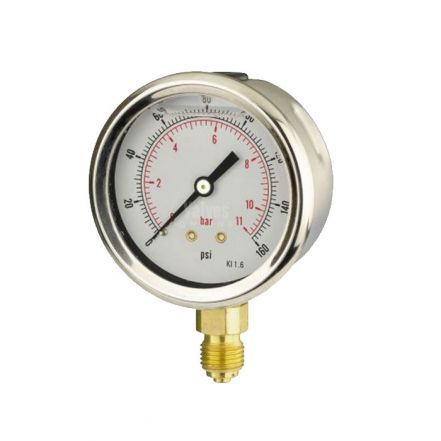 Glycerine Filled Bottom Entry Gauge