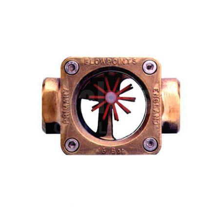 Gunmetal 'Style GR' Twin Rotor Type Flow Indicator