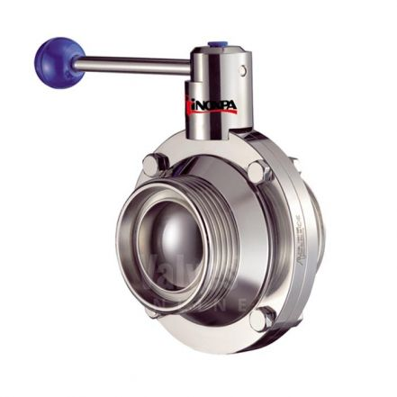 Inoxpa 6400 Hygienic Ball Valve with Pneumatic Actuator and C Top