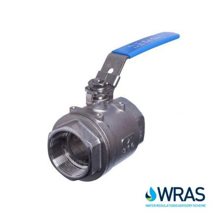 2 Piece Stainless Steel WRAS Approved Ball Valve