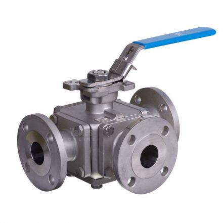 Mars 3 Way Series 33 PN16 & ANSI 150 Ball Valve