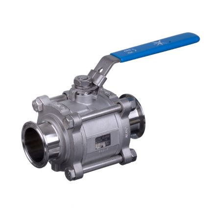 Mars Ball Valve Series 50SN 3 Piece Hygienic Manual Only Tri-Clamp