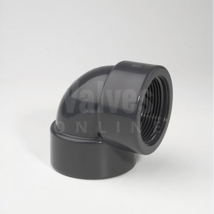 PVC 90° Imperial Inch x Threaded Adaptor Elbow