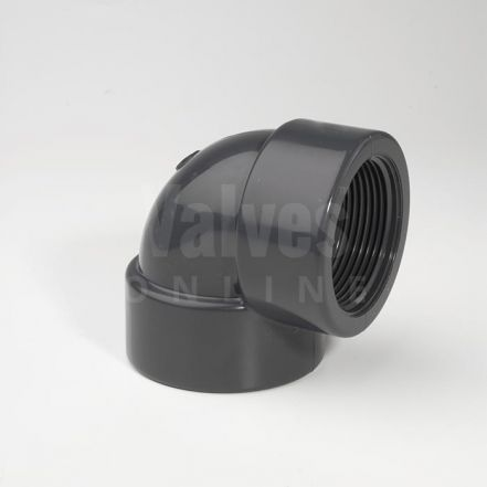 PVC 90° Metric x Threaded Elbow