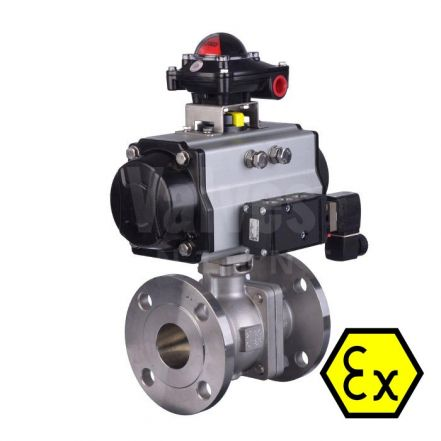 ATEX 90D Pneumatic Actuated ANSI 300 Ball Valve