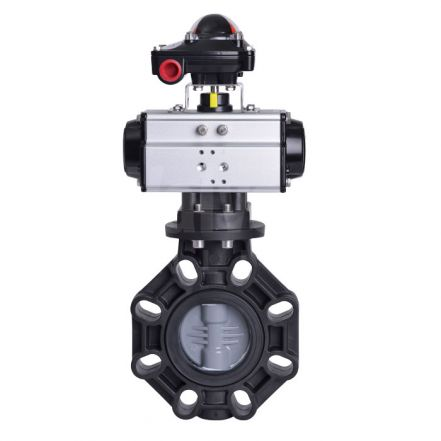 Pneumatic Actuated CEPEX Extreme Butterfly Valve ABS Disc