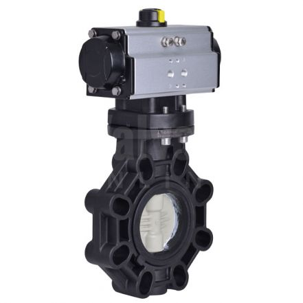 Pneumatic Actuated CEPEX Extreme Butterfly Valve PP-H Disc