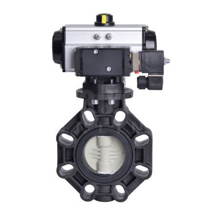 Pneumatic Actuated Extreme Butterfly Valve PP-H Disc