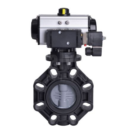 Pneumatic Actuated CEPEX Extreme Butterfly Valve PVC-C Disc