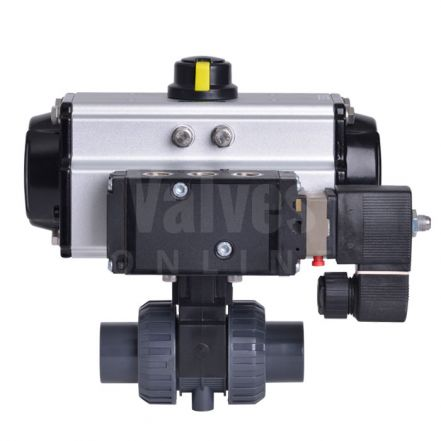 Pneumatic Actuated CEPEX Extreme PVC-U Ball Valve