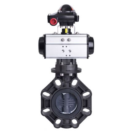 Pneumatic Actuated CEPEX Extreme Butterfly Valve PVC-U Disc