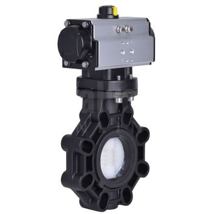Pneumatic Actuated CEPEX Extreme Butterfly Valve PVDF Disc