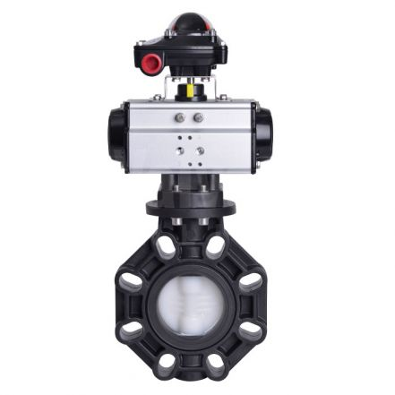 Pneumatic Actuated Extreme Butterfly Valve PVDF Disc