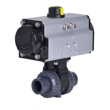 Pneumatic Actuated Extreme PVC-U Ball Valve