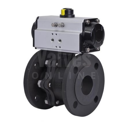 Pneumatically Actuated Carbon Steel PN16 Ball Valve