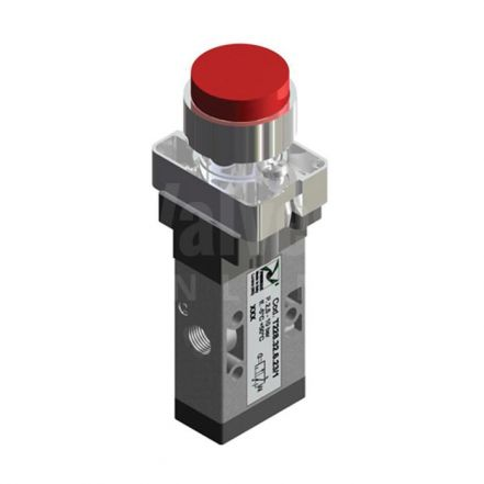 Series T228 Raised Push Button Pneumatic Valve 3/2 & 5/2 - 1/8""